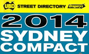2014  Sydney UBD/ Gregory's Street Directory