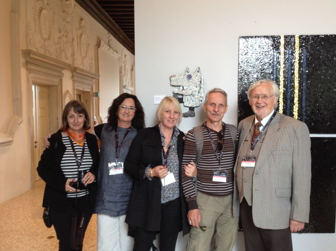 Renee Antoine Malaval (France, Editor Mosaique Magazine), Helen Bodycomb and Pamela Irving (Australia), Alexander Vasiliev (Russia), Manfred Hoehn (Germany, Founding Member AIMC and 2016 AIMC Congress President)